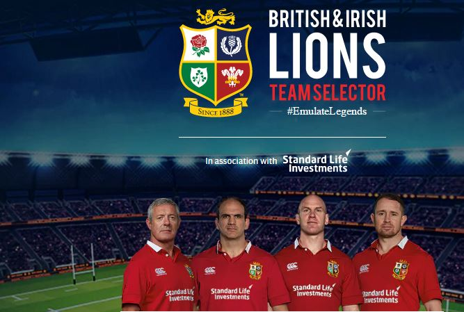 select your british lions team