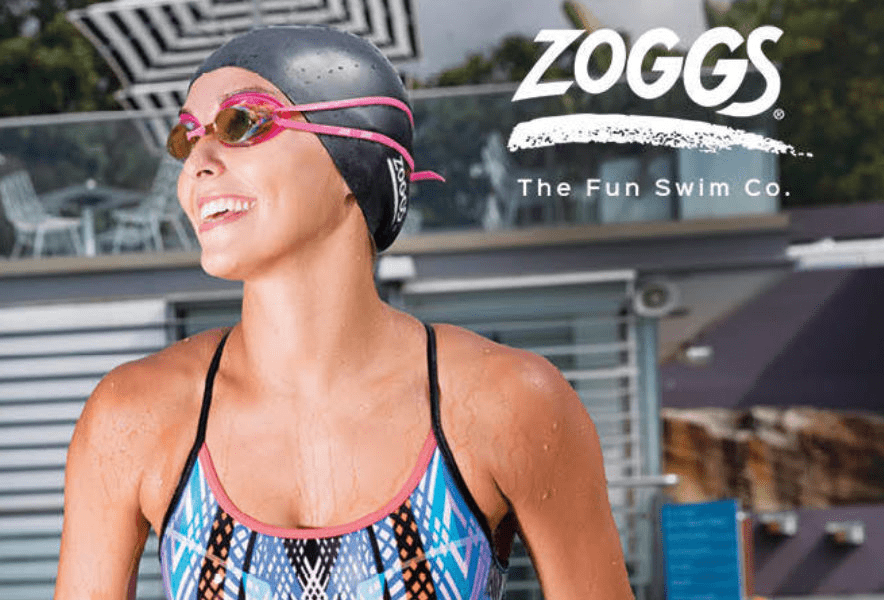 Win swimsuit and goggles from Zoggs