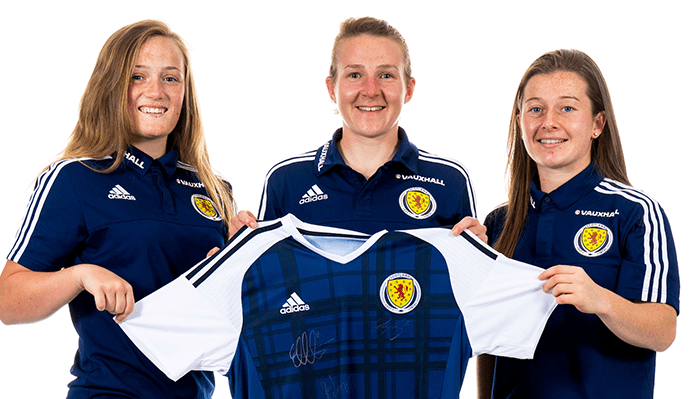 win a shirt signed by scottish ladies players