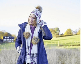 win a winter equestrian outfit