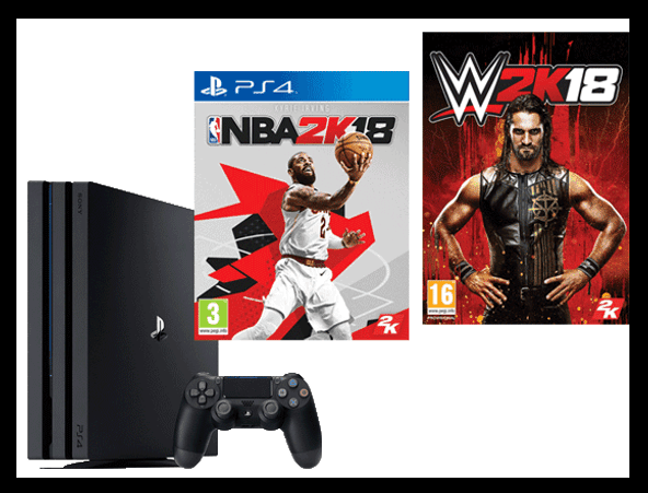 Win a PS4 and WWE 2K18 and NBA 2K18 Games