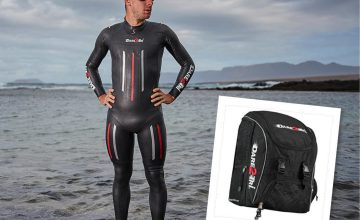 win dare3tri wetsuit and backpack