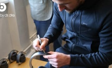 win beats headphones signed by harry kane
