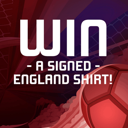win a signed england shirt