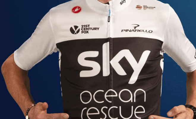 win a team sky cycling jersey