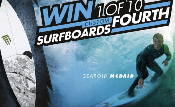 win a custom surfboard