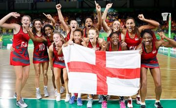 win a netball signed by the england team